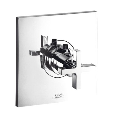 Axor Citterio Thermostatic Faucet Trim with Cross Handle Finish: Chrome