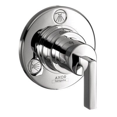 Axor Citterio Trio/Quattro Diverter Faucet Trim with Lever Handle Finish: Brushed nickel