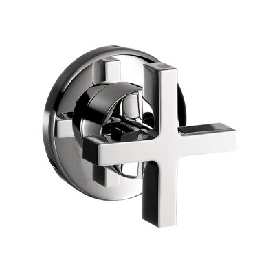 Axor Citterio Volume Control Faucet Trim with Cross Handle Finish: Brushed Nickel
