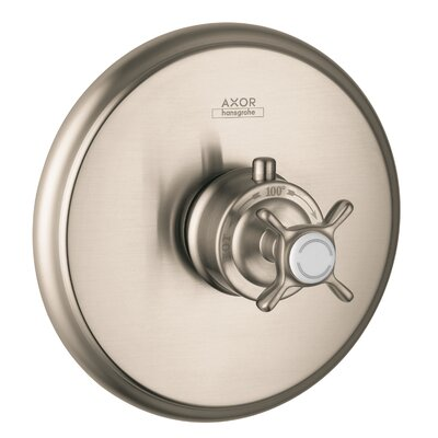 Axor Montreaux Thermostatic Faucet Trim with Cross Handle Finish: Brushed Nickel