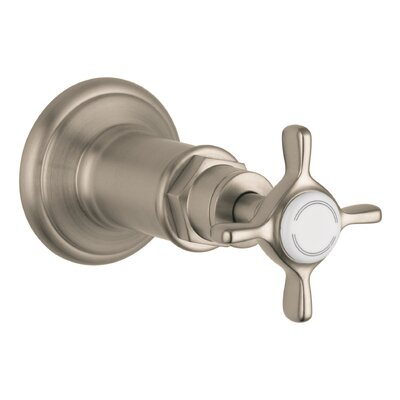 Volume Control Faucet Trim with Cross Handle Finish: Brushed Nickel