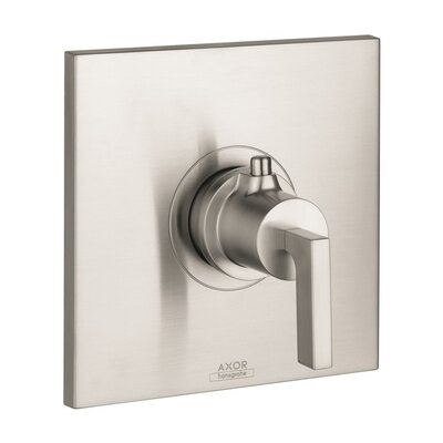 Axor Citterio Thermostatic Faucet Trim with Lever Handle Finish: Brushed Nickel