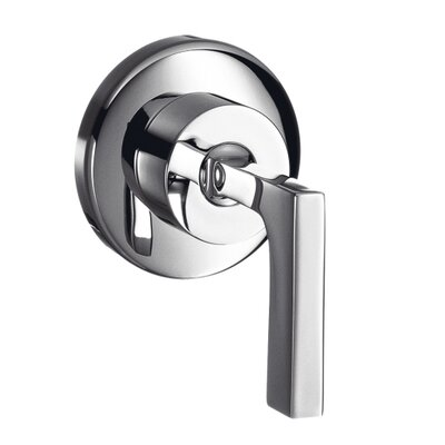 Axor Citterio Volume Control Faucet Trim with Lever Handle Finish: Chrome
