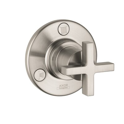 Axor Citterio Trio and Quattro Trim with Cross Handle Finish: Brushed Nickel
