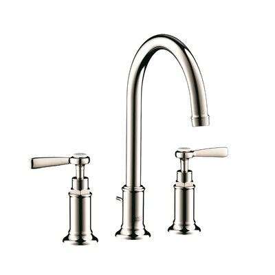 Axor Montreux Double Handle Widespread Bathroom Faucet Finish: Polished Nickel