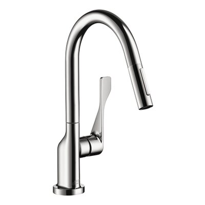 Axor Citterio Single Handle Deck Mounted Kitchen Faucet Finish: Chrome