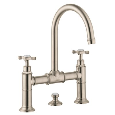 Axor Montreux Double Handle Widespread Bathroom Faucet Finish: Brushed Nickel