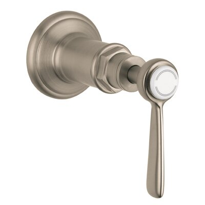 Axor Montreux Volume Control Faucet Trim with Lever Handle Finish: Brushed Nickel