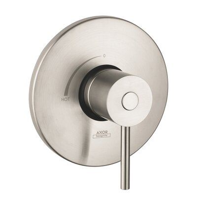Axor Uno Pressure Balance Faucet Trim with Lever Handle Finish: Brushed Nickel