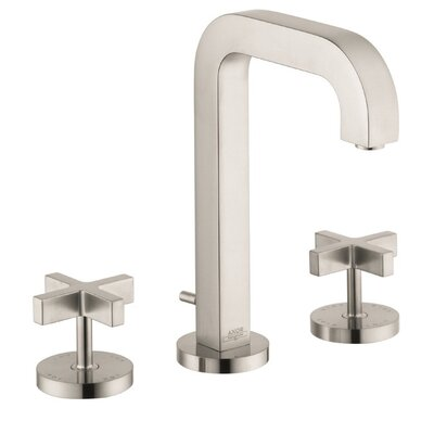 Axor Citterio Widespread Faucet with Cross Handles Finish: Brushed Nickel