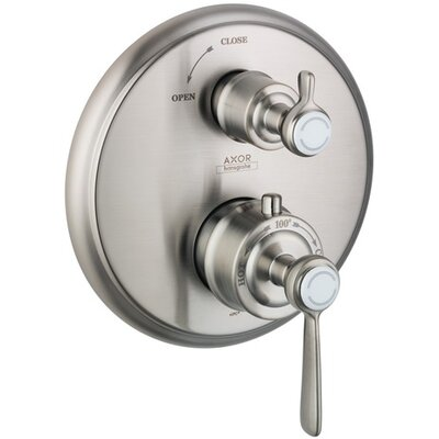 Axor Montreux Trim Lever Thermostatic with Volume Control Finish: Brushed Nickel