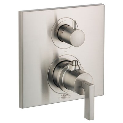 Axor Citterio Trim Lever Thermostatic with Volume Control Finish: Brushed Nickel