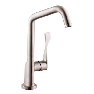 Axor Citterio Single Handle Kitchen Faucet Finish: Steel Optik