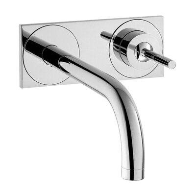Axor Uno Single Handle Wall Mounted Faucet with Base Plate Finish: Chrome