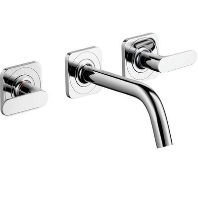 Axor Citterio M Double Handle Wall Mounted Widespread Faucet Finish: Chrome