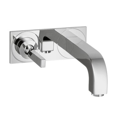 Axor Citterio Single Handle Wall Mounted Faucet with Base Plate Finish: Chrome