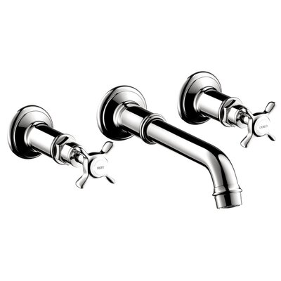 Axor Montreux Two Handle Wall Mounted Faucet Finish: Chrome