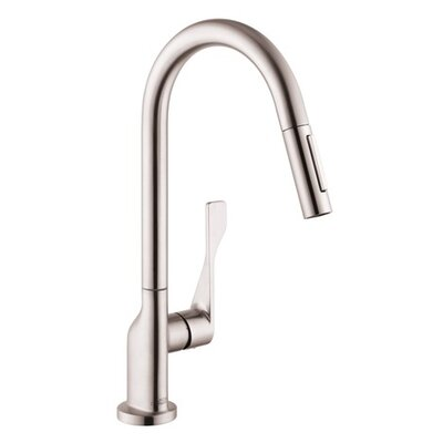 Axor Citterio One Handle Deck Mounted Kitchen Faucet Finish: Steel Optik