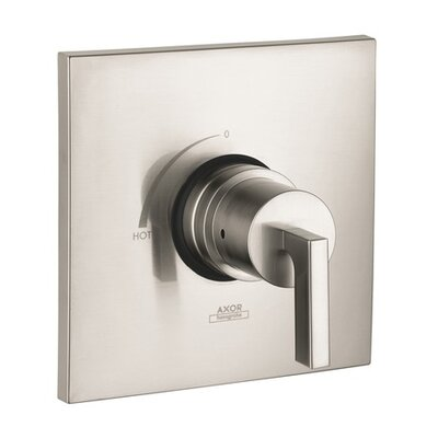 Axor Citterio Pressure Balance Faucet Trim with Lever Handle Finish: Brushed Nickel