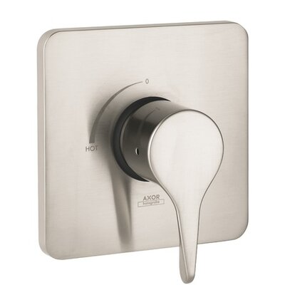 Axor Citterio M Pressure Balance Faucet Trim with Lever Handle Finish: Brushed nickel