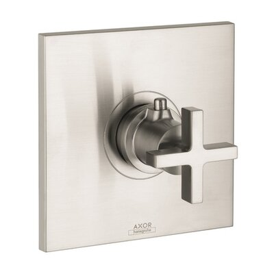 Axor Citterio Thermostatic Faucet Trim with Cross Handle Finish: Brushed Nickel