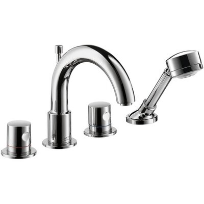 Axor Uno Double Handle Widespread Roman Tub Faucet Trim Finish: Chrome
