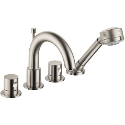 Axor Uno Double Handle Widespread Roman Tub Faucet Trim Finish: Brushed Nickel