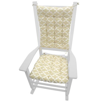 Garden Outdoor Rocking Chair Cushion Fabric: Neutral