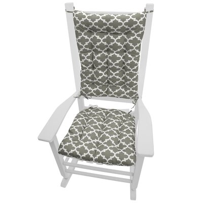 Garden Outdoor Rocking Chair Cushion Fabric: Grey