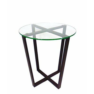 Metro Glass End Table Top Finish: Clear