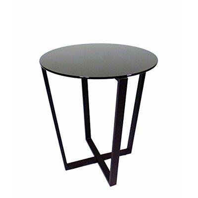 Metro Glass End Table Top Finish: Black