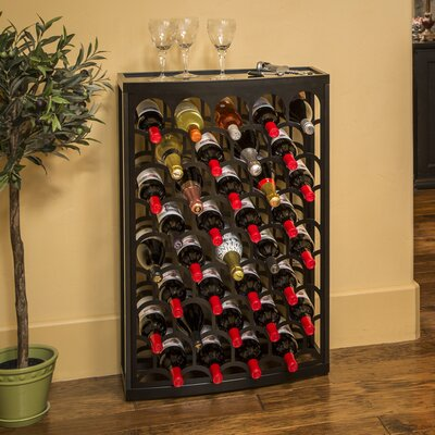 Art Deco Mango Steam 36 Bottle Floor Wine Rack