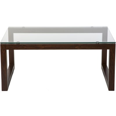 Dakota Coffee Table Base Color: Mahogany Red
