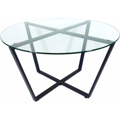 Metro Glass Coffee Table Top Color: Clear