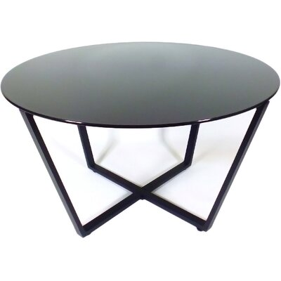 Metro Glass Coffee Table Top Color: Black