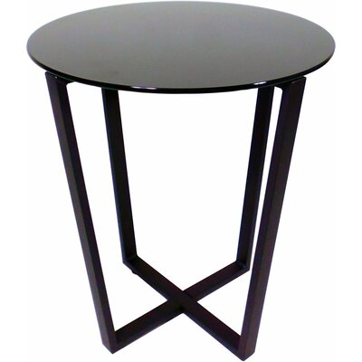 Metro Glass End Table Top Finish: Black