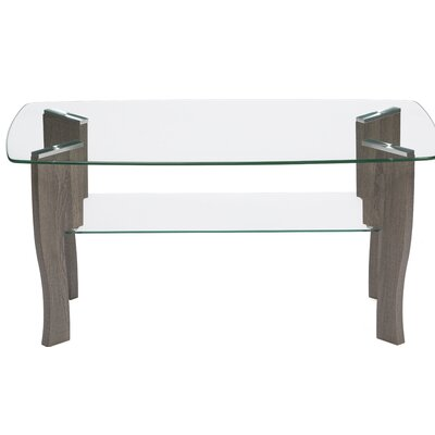 Araujo Mid Century Top Coffee Table Size: 18 H x 41.4 W x 25.5 D