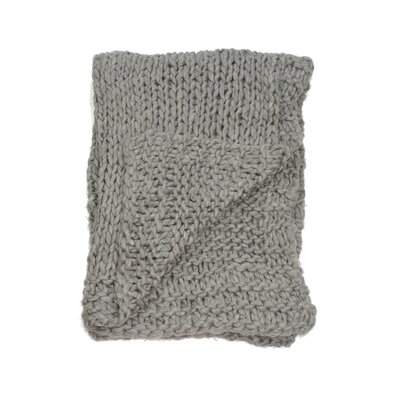 Chunky Wool Knit Throw Color: Cobble