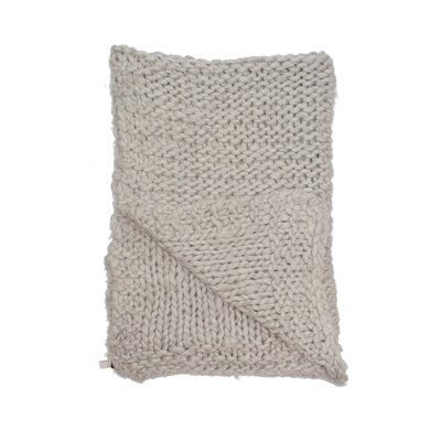 Chunky Wool Knit Throw Color: Smolder