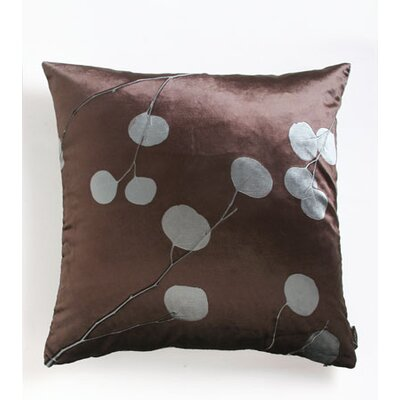 Signature Eucalyptus Truffle Velvet Throw Pillow