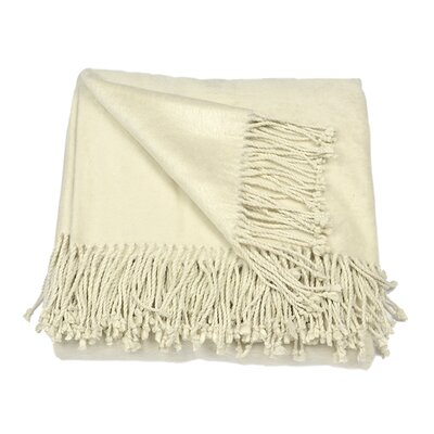 Silk Fleece Throw Color: Creme