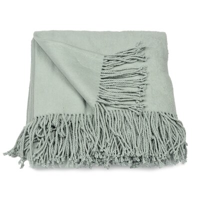 Silk Fleece Throw Color: Duck Egg