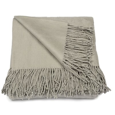 Silk Fleece Throw Color: Smolder