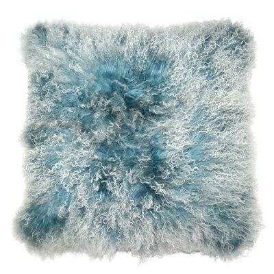 Luxe Double Dipped Throw Pillow Color: Cr�me Blue