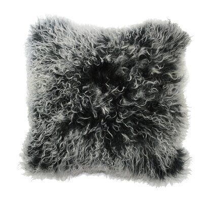 Luxe Double Dipped Throw Pillow Color: Charcoal