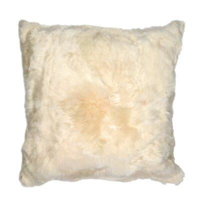 Luxe Suri Throw Pillow Color: Creme