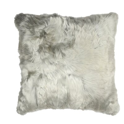 Luxe Suri Throw Pillow Color: Silver