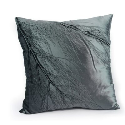 Signature Sea Flower on Cinder Velvet Throw Pillow