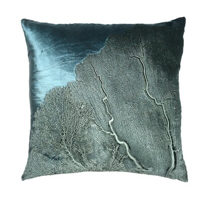 Signature Sea Fan Velvet Throw Pillow
