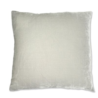 Signature Solid Silk Velvet Throw Pillow Color: Silver